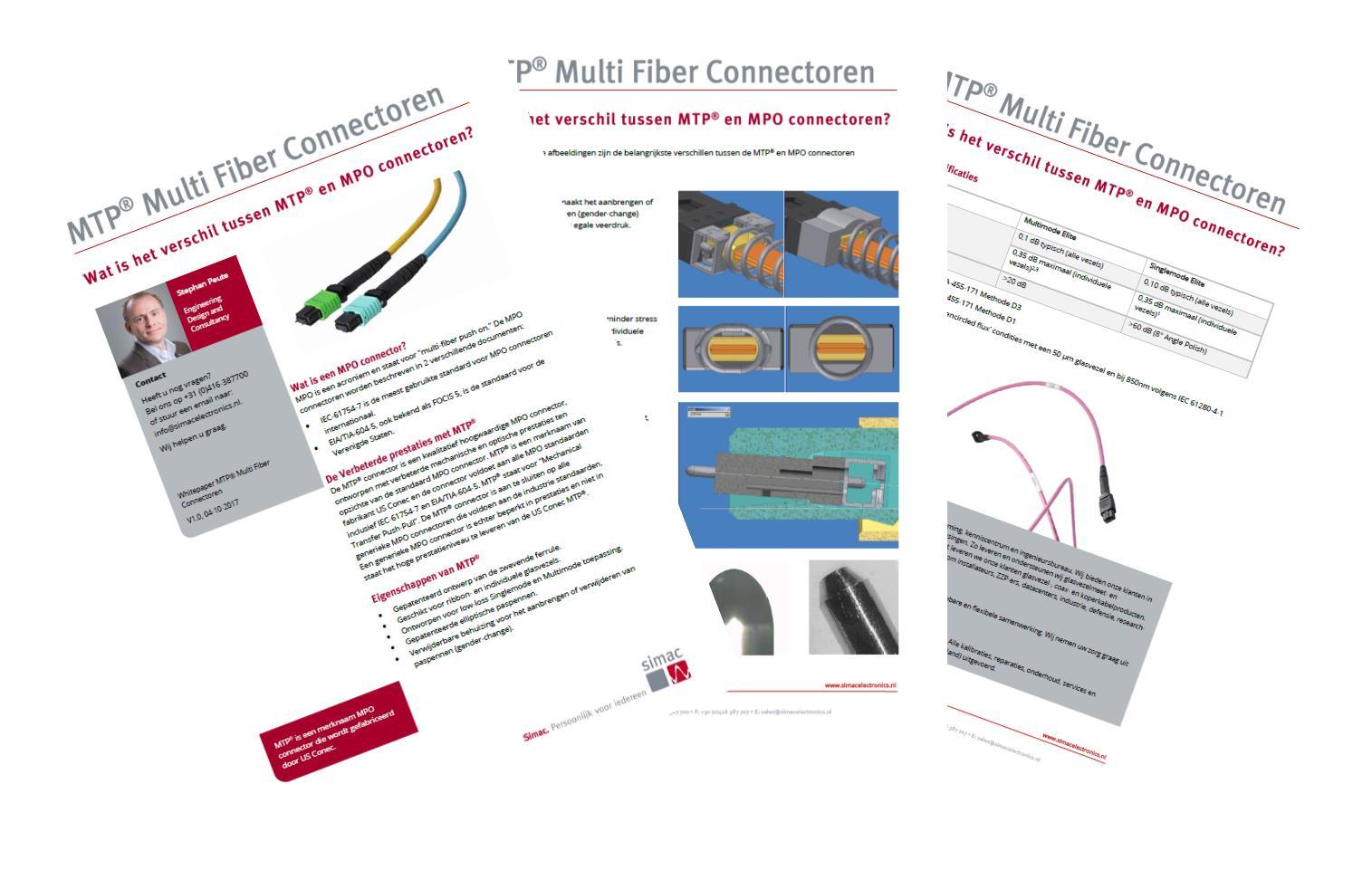 Kennisdocument 'Wat is het verschil tussen MTP® en MPO connectoren?'